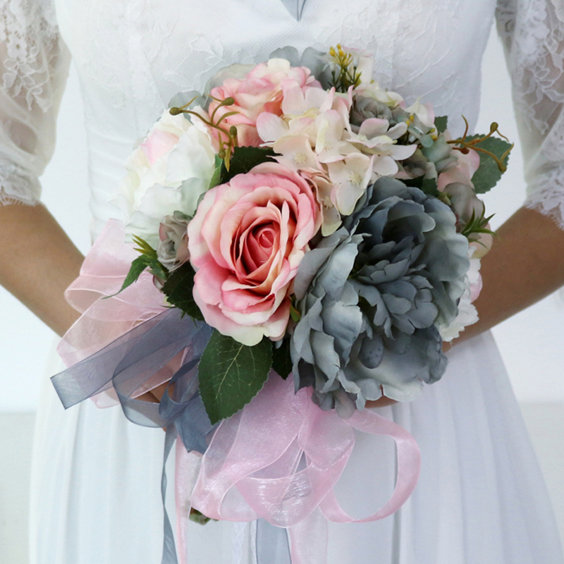 Handmade Wedding Flowers: European Country Style Handmade Silk Artificial Flowers