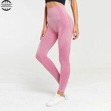 2019 Yoga pants women high waist elastic yoga leggings push up Seamless Leggings femme sports wear for women gym Leggings lace up elastic waist leggings