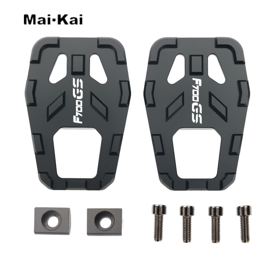 MAIKAI Motorcycle Accessories FOR BMW F700GS F700 GS All Years CNC Aluminum Alloy Widened Pedals