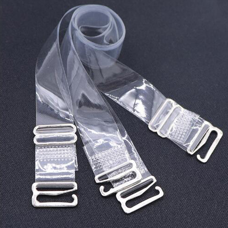 6pcs Women's Metal Buckle Bra Straps Belt Elastic Transparent Silicone Bra Straps Adjustable Baldric ILingerie sling W0002