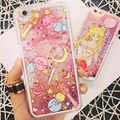 Quicksand sailormoon transparent hardcase for Apple iPhone 6 4.7inch 6plus +5.5inch Free Shipping Sailor chibi liquid cover