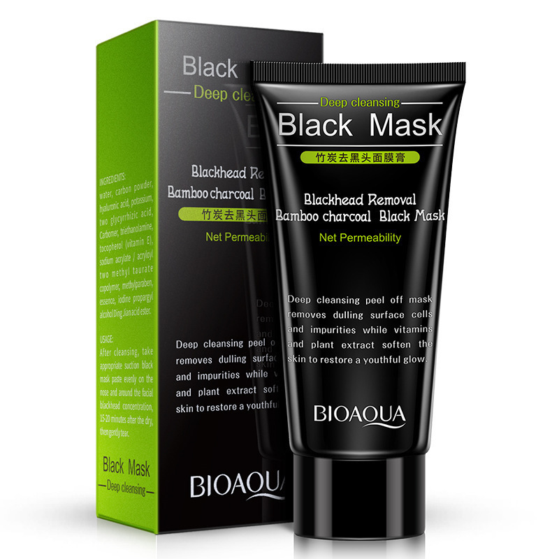 BIOAQUA Bamboo Charcoal Blackhead Mask Facial Mask Remove Blackhead Treatment Cleaning Oil Control Shrink Pores T Zone Skin Care Комедон