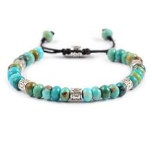 Men Women Bracelet Disc Shape Natural Turquoises Friendship Bracelets Boho Fashion Punk Lovers Jewelry Gifts Dropship
