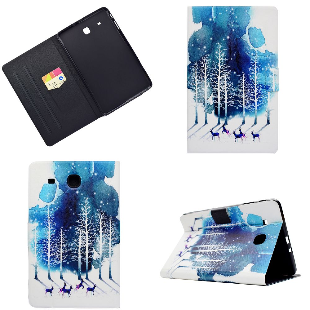 BannerLive TPU Case for Samsung Galaxy Tab E T560 Cover GalaxyT560 Funda Coque Paint Horse Deer Owl Elephant Fox
