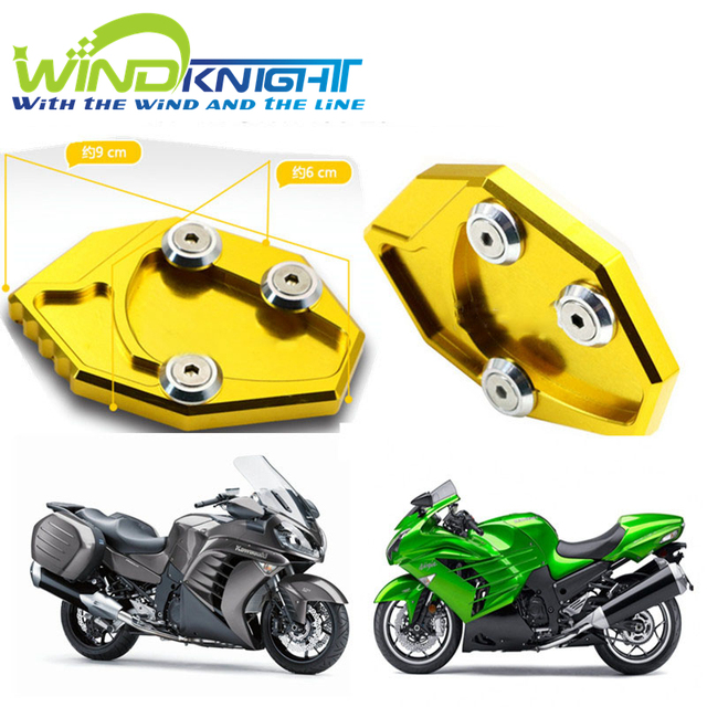Motorcycle CNC Kickstand Side Stand Plate Pad Enlarge Extension For Kawasaki NIJIA ZX14R ZX 14R ZZR1400  sc 1 st  AliExpress.com & Motorcycle CNC Kickstand Side Stand Plate Pad Enlarge Extension For ...