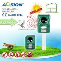 5pcs Solar Ultrasonic Animal Repeller Bats Birds Dogs Cats Repeller Repellent PIR Signal And LED Flashing