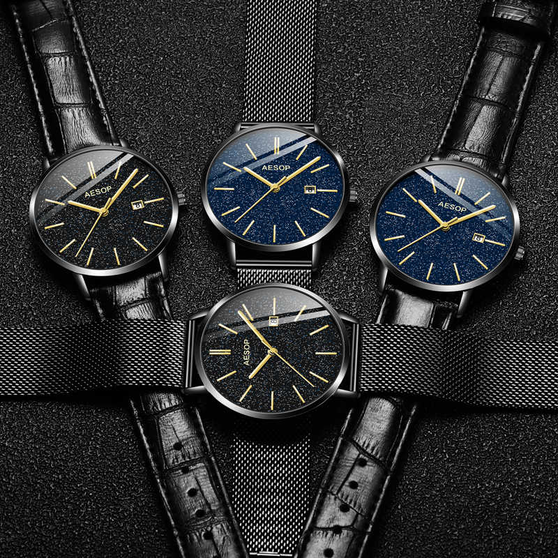 Ezopa Relogio Masculino kwarcowy zegarek mężczyźni luksusowe Top marka zegarki luksusowy zegarek męski wodoodporna data zegarek ze stali nierdzewnej
