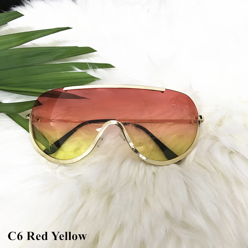 Rimless Gold Clear Sunglasses Men Women Brand Designer Aviator Clear Sunglasses 19