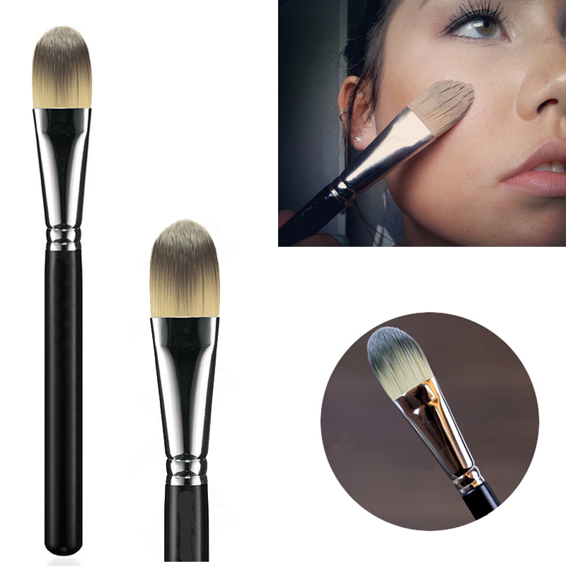 Liquid Foundation Face Brush Flat Foundation Cream Brush Blender Makeupborstar Kosmetisk Skönhetsverktyg