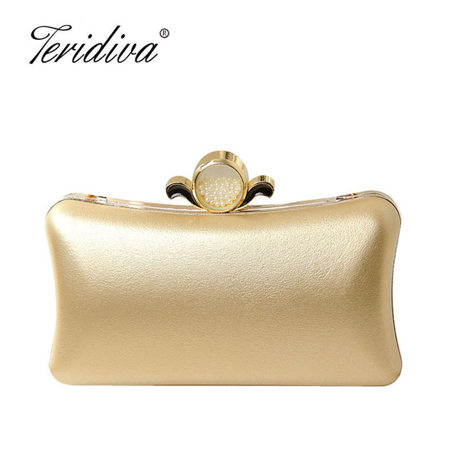 Teridiva Woman Evening Bags Clutches Round Pearl Clutch Purse Small Chain  Shoulder Bag Smooth Purses and fda03ffaa1b6