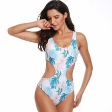цены на ZHUOHE 2019 One Piece Swimsuit Swimwear Fun Tropical Print Bathing Suit Body Suit Swimming Suit Beach Young Sexy Women Girls в интернет-магазинах