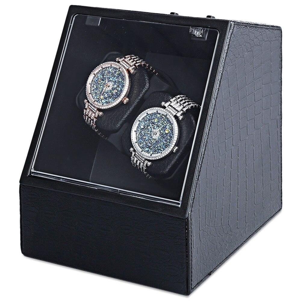 Boîtier de montre automatique muet dans la boîte de montre enrouleur forme irrégulière montre-bracelet affichage bijoux mallette de rangement titulaire organisateur avec prise EU