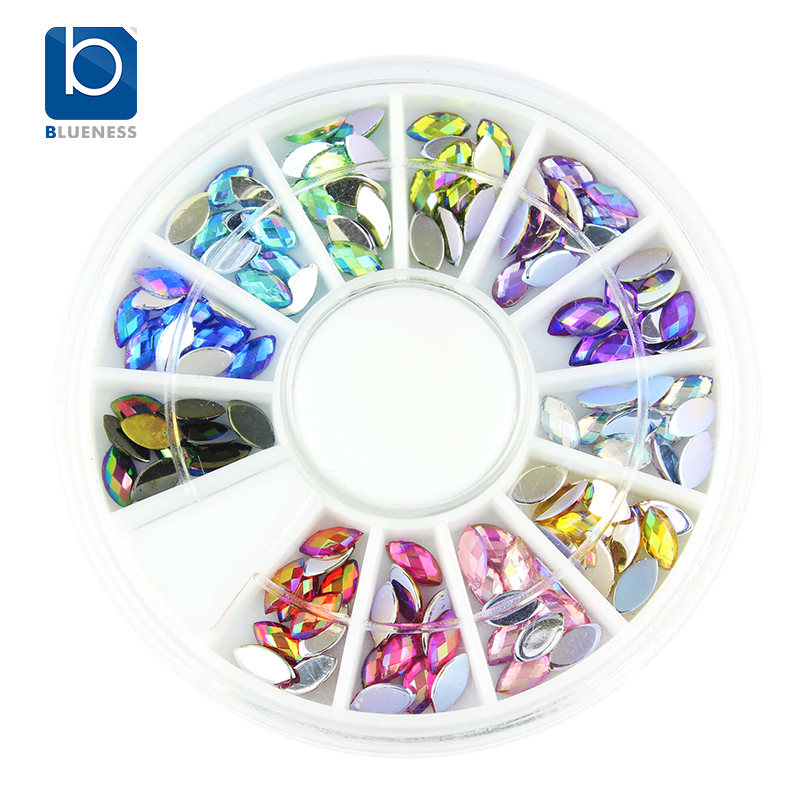 Blueness glitter acrylic ab 3d nail art decorations for Acrylic nail decoration supplies