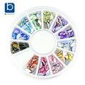 Cor azul Glitter acrílico AB strass decorações Nail Art 3D colorido acessórios suprimentos Manicure ZP202