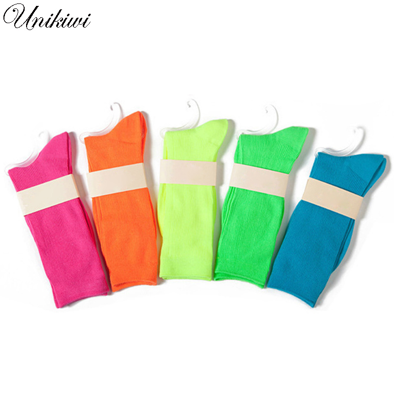 Fluorescent Candy Color Socks 1