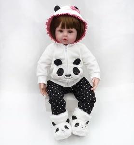 Image 4 - NPK 48cm reborn תינוק צעצוע בובות רך סיליקון ויניל reborn תינוקת בובות bebes reborn bonecas לשחק צעצועי בית ילד plamates