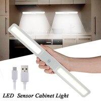 Smuxi Portable 20 LED Night Light PIR Motion Sensor Cabinet Light USB Rechargeable Stairs Wardrobe Closet