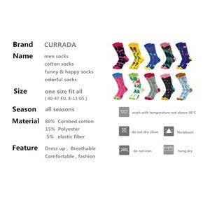 Image 2 - 10 paare/los Marke Qualität Männer Glücklich Socken Gekämmte Baumwolle bunte Lustige Socken Heißer Verkauf mode Lässig lange Mens kompression socken