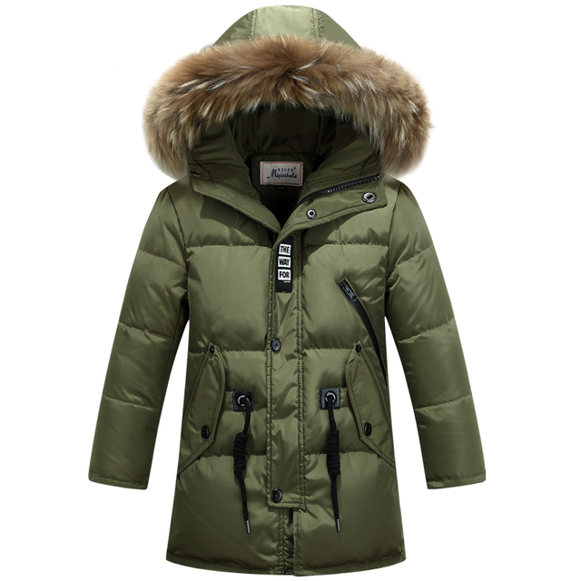 a4d10d3f828f children duck down outerwear Boys winter jacket kids coat with fur ...