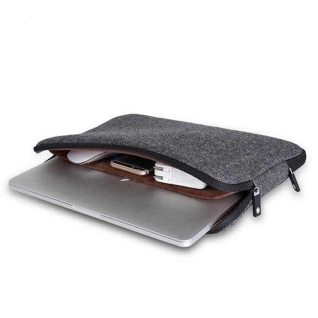 15.6 Inch Laptop Sleeve Wool Felt Lenovo 14 Inch+Free Keyboard Cover for MacBook Wholesale Price Laptop Bags for MacBook Air 13