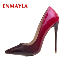 ENMAYLA  Pointed Toe Slip-On Thin Heels Shoes Woman High Heel Sexy Size34-43 ZYL2206