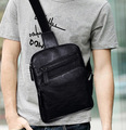 New Fashion Hot Sale Mens Crossbody Bag PU Leather Chest Pack Shoulder Bags Men Bags Casual Bag for Male