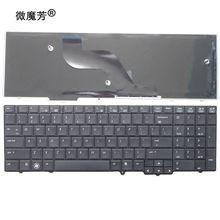 لوحة مفاتيح كمبيوتر محمول أمريكية لإتش بي Probook 6540B 6545B 6550B 6555B 6540 6545 الإنجليزية لوحة المفاتيح