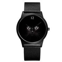 BAOSAILI Güzel Kedi Hayvan Karakter Bilek İzle Erkek Kadın Kol Saatleri Relogio Masculino Için El Saat Japonya Hareketi Bs9039