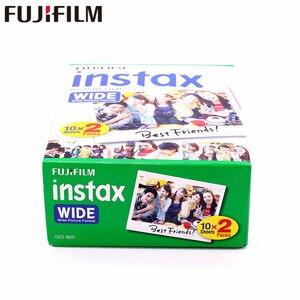 Image 5 - Fujifilm Instax רחב סרט אמיתי לבנים 20 גיליונות נייר צילום מיידי לפוג י המצלמה 300/200/210/100/500AF
