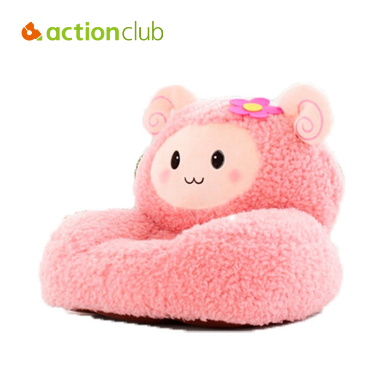 Actionclub Plush Toys  Baby Chair&Seat Children Cartoon Sofa Kids Sleeping Bean Bag Bed Cute Lamb Furniture Lounge Chair baby anti rollover safety seat portable waist stool children small sofa cartoon plush nursing feeding pillow learn to sit sofa