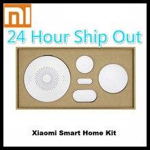 2016 más nuevo original xiaomi smart home kit de puerta de enlace puerta ventana del sensor del cuerpo humano sensor inalámbrico interruptor inteligente dispositivos conjuntos