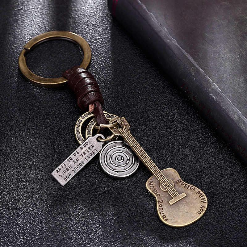 Несколько гитара куртка-бомбер подвеска кожаный брелок Брелоки для ключей ключи от машины аксессуары брелок