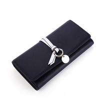 Фотография new style Multicolor Ms. wax leather wallet female long paragraph leather wallets Purse for women free shipping
