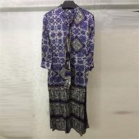 Summer Dress for Women Long Sleeve Silk Print Dress for lady Summer party 2108 New Women Dress