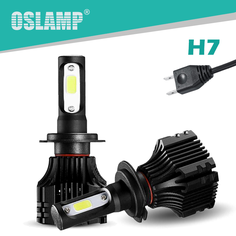Oslamp H7 Led Headlight Bulbs Kit 72W 8000LM 6500K COB Chips Led H7 Headlamps Automobile All-in-one S5 Series H7 Car Bulbs 12V kiss лак для ногтей карамельное яблоко kiss mini nail polish mnp32 8 мл