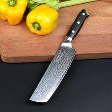 Sunnecko 7 palců Cleaver šéfkuchařský nůž Japonský damašek VG10 šéfkuchařský nůž 73 vrstev Damaškové oceli kuchyňské nože G10 rukojeť