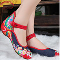 Plus Size 41 Fashion Women Shoes Chinese Flats Casual canvas mother Shoes, Chinese Style Embroidered Cloth shoes female