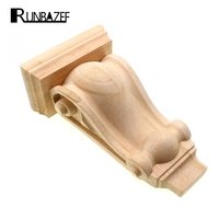 RUNBAZEF Wooden Carving Decorative Woodcarving Flower Stigma Corbel Pass Bracket Vintage Home Decor Figurines Miniatures Globe