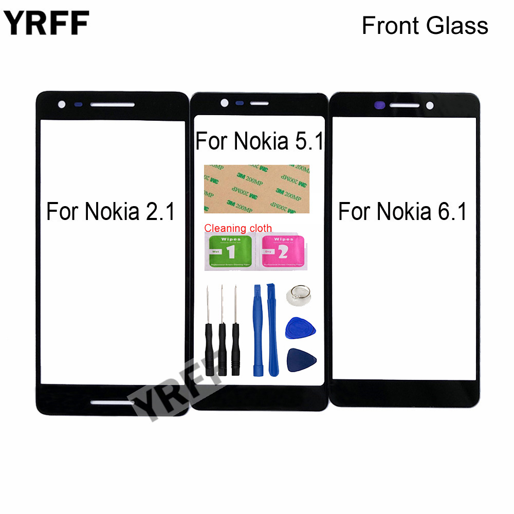 5.5'' (No Mobile Touch Screen) Outer Glass For Nokia 6.1 5.1 2.1 Front Glass Panel Replacement