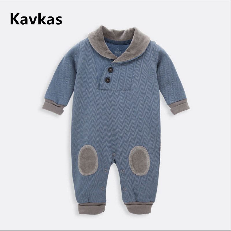KAVKAZ Mens clothing winter long sleeve childrens jumpsuit 100% cotton baby Christmas jumpsuit baby pajamas baby clothes