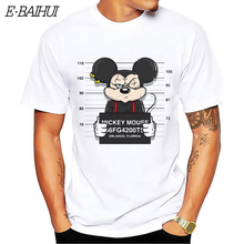 E-BAIHUI new cartoon mouse print t-shirt men tops hip hop casual funny dog tshirt homme comfortable cotton t shirt CG001