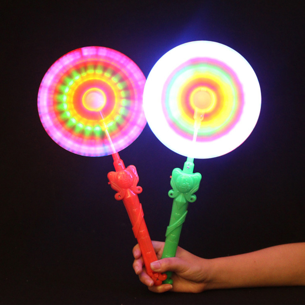 1pcs Spinner Glow Toys Windmills Flashing Light Up LED And Music Rainbow Spinning Windmill Wind Spinner Glows Toys  #20 hair dryer