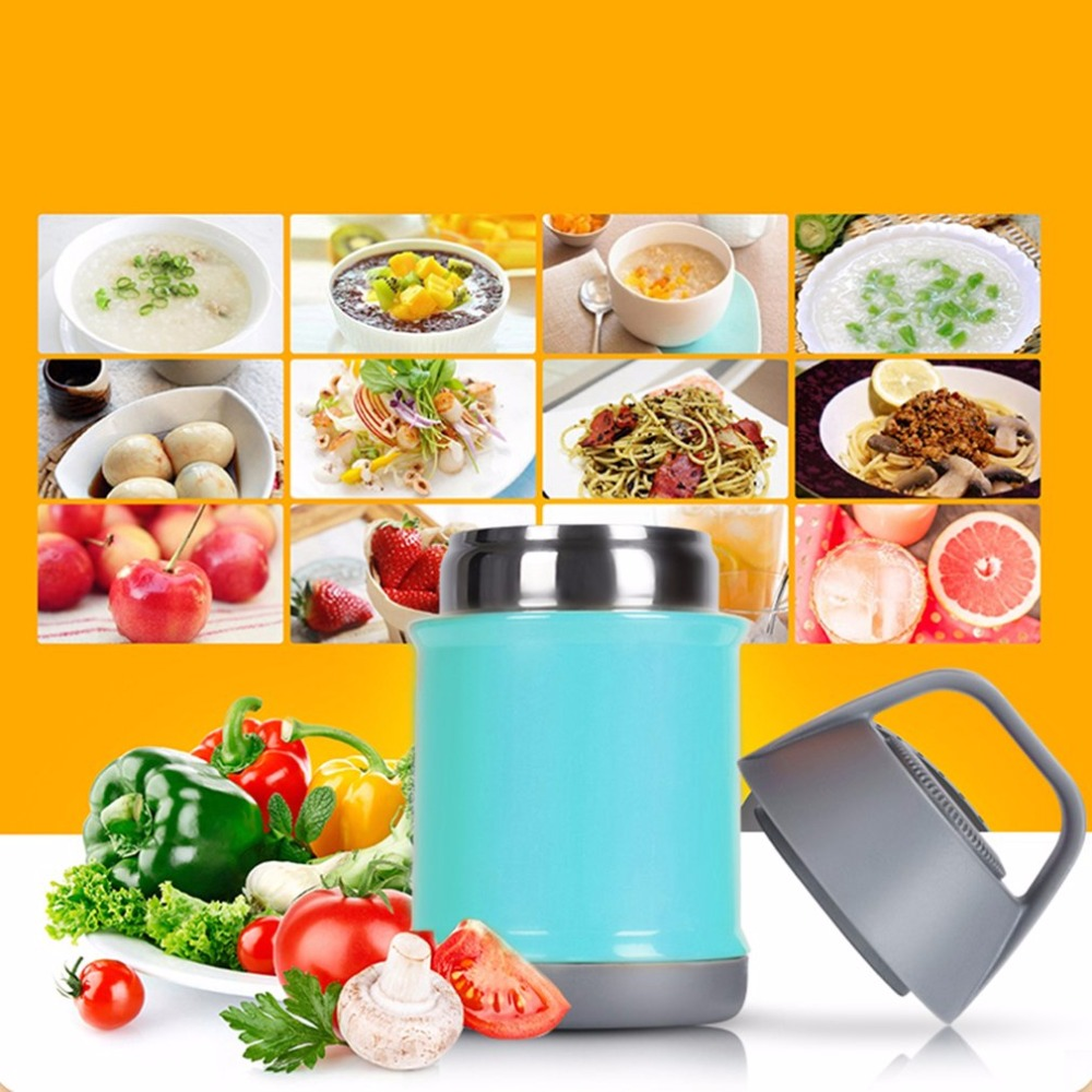 Portable Stainless Steel Vacuums Bottle Braised Beaker Vacuum Flask Crown Food And Soup Thermos 600ml Insulated Pot Porridge Rice Bucket Lunch Box In Thermal Cookers From Home