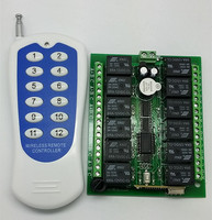 AC/DC 12V 12 CH Channel RF Multifunction Wireless Remote 1000m Control Switch System Transmitter & Receiver 315MHz to 433MHz