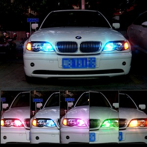 Image 3 - سيارة أضواء الإشارة T10 w5w Led لمبة 12 فولت السيارات الداخلية ضوء w5w T10 Led مصابيح مصابيح سيارات التخليص RGB مع جهاز التحكم عن بعد 12 فولت