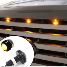 4pc Amber / White  SVT Raptor Style LED White Grille Lighting Kit, Universal Fit Truck SUV