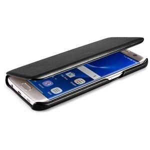 Image 3 - Étui en cuir véritable de luxe ICARER dorigine pour Samsung Galaxy S7/ S7 Edge Ultra mince housse de protection pour téléphone portable accessoires
