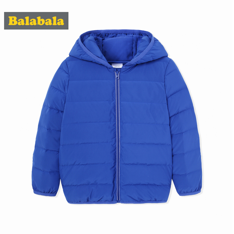 balabala down jacket for boys children clothes kids solid thick down jackets winter warmer outerwear toddler hooded coat