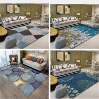 Nordic Minimalist Carpets Living Room Bedroom Sofa Coffee Table Study Bedside Non slip Carpet Model Showcase Rugs Household Rug