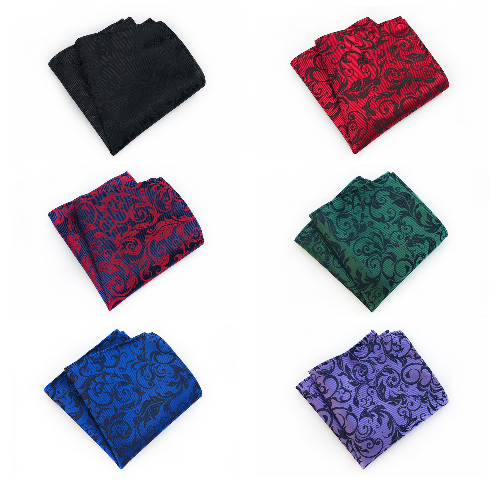 Fashion Boutique Flower Men's Pocket Square Towel Handkerchief Fashion Retro Quality Silk Polyester Paisley Floral Pocket Square